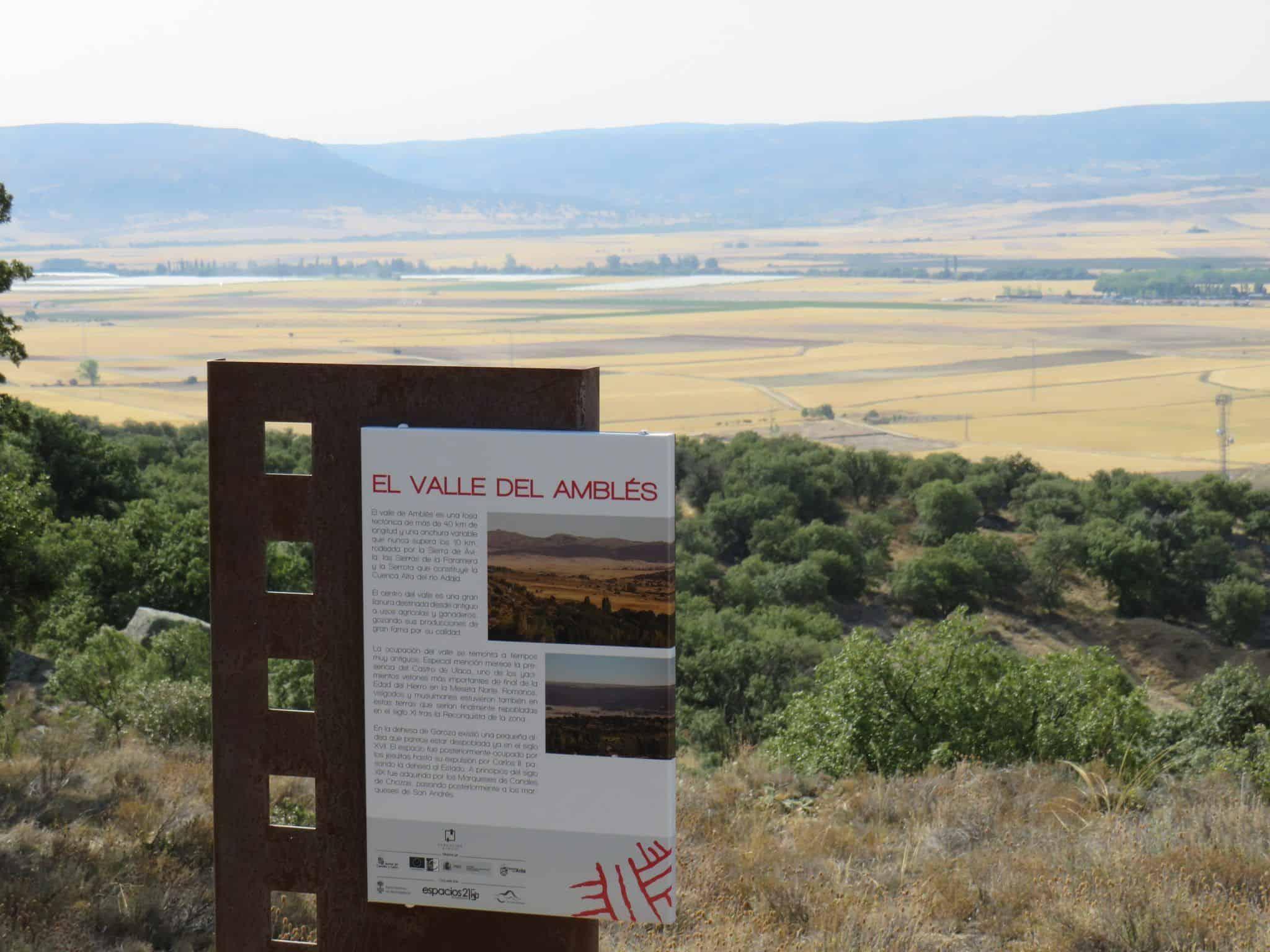 Valle Amblés desde Ibarrola en Garoza