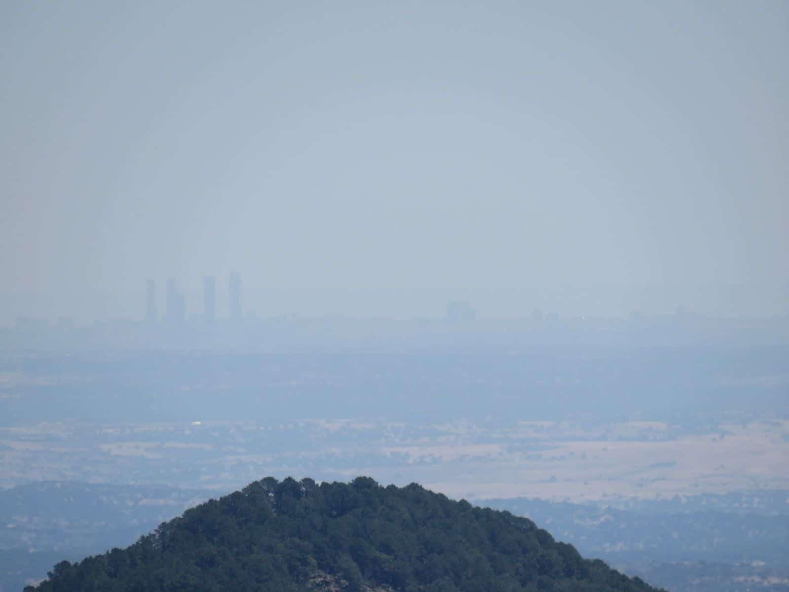 skyline madrid desde Ávila