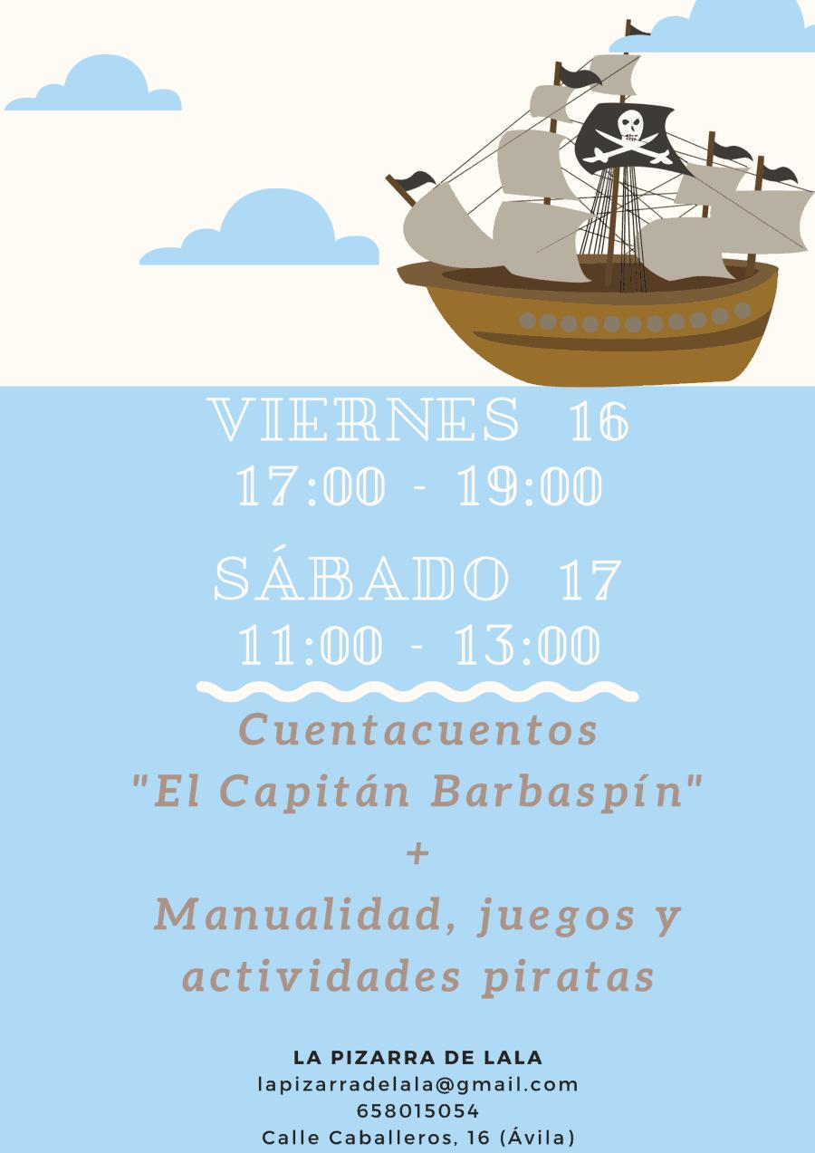 Cuentacuentos y taller 'El capitán Barbaspín'