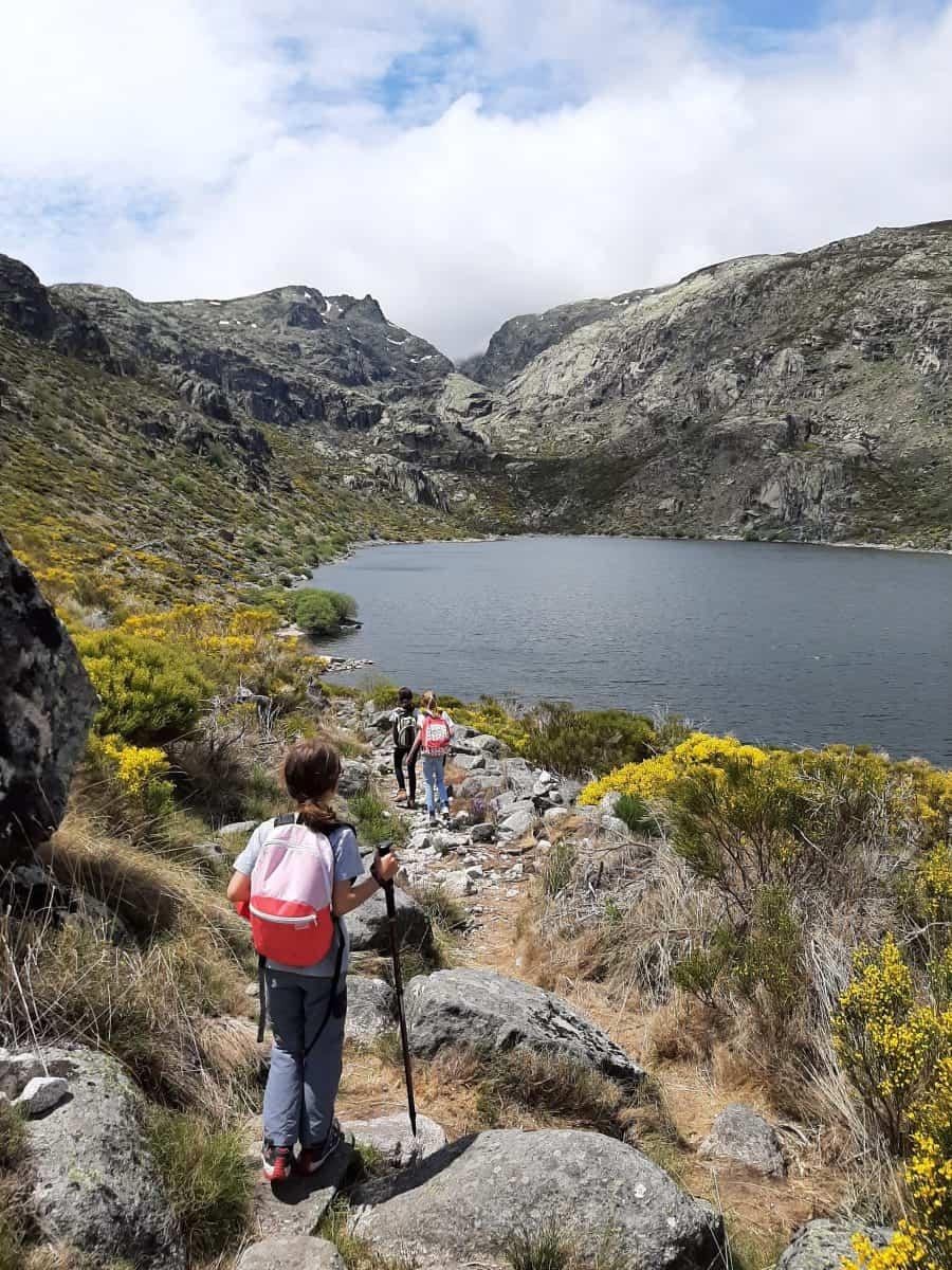 Llegando a la Laguna del Duque en Solana de Ávila
