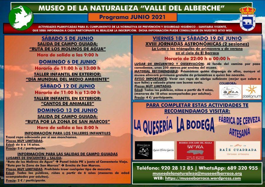 talleres junio museo naturaleza