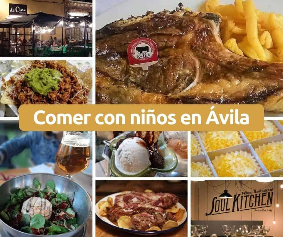 Comer con niños en Ávila. Restaurantes para ir en familia.