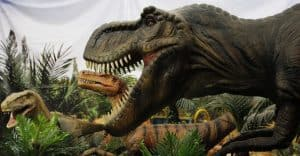 dinosaurios animatrónicos con movimiento real