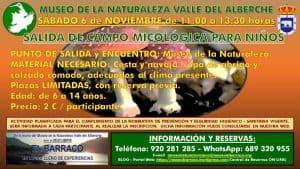 Salida de campo micológica para niños